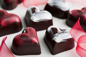 v-day chocolate love
